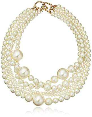 Kenneth Jay Lane Multi-Strand Faux- Necklace
