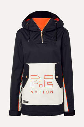 P.E Nation + Dc Skyline Hooded Printed Ski Jacket - Black