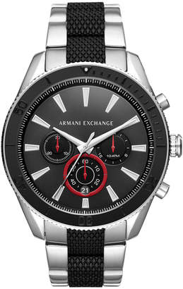 Armani Exchange Men's Chronograph Two-Tone Stainless Steel Bracelet Watch 46mm