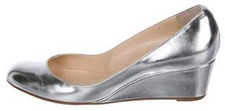 Christian Louboutin Metallic Leather Wedge Pumps