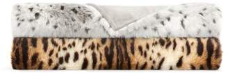 Hudson Park Collection Faux-Fur Animal Throw - 100% Exclusive