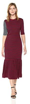 Cynthia Rowley Women's Hang Ten Striped Maxi Dress