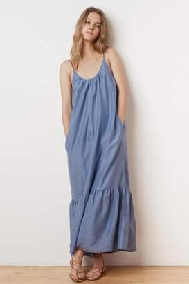 Velvet by Graham & Spencer ABARA SILK COTTON VOILE MAXI DRESS