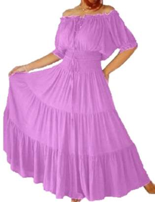 Lotustraders Mexican Peasant Ruffled Dress 3X A7581