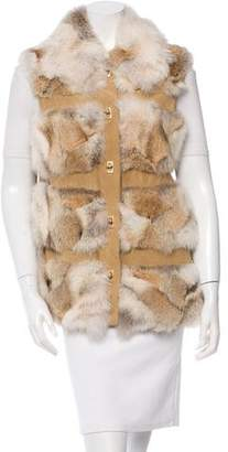 Michael Kors Coyote Fur Lodge Vest