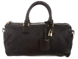 Loewe Amazona Leather Satchel Black Amazona Leather Satchel