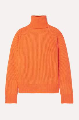 REMAIN Birger Christensen - Jerome Ribbed Wool And Cashmere-blend Turtleneck Sweater - Orange