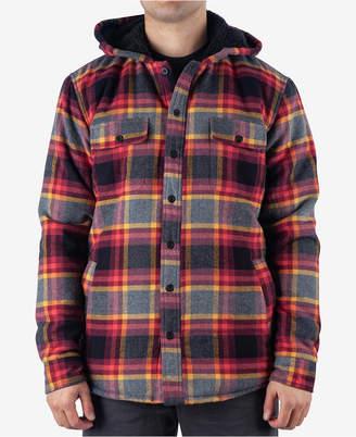 Rip Curl Men's Pena Regular-Fit Plaid Fleece-Lined Hooded Flannel Shirt