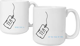 Cathy's Concepts CATHYS CONCEPTS Tea Time Set of 2 Personalized Large Coffee Mugs
