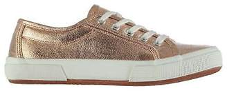 Soul Cal SoulCal Womens Laguna Canvas Trainers Low Lace Up Comfortable Fit Tonal