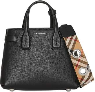 Burberry Baby Banner Leather Satchel