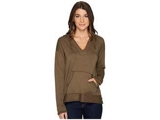 Mod-o-doc Cotton Modal Spandex French Terry Drop Shoulder Pullover Hoodie Women's Sweatshirt