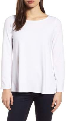 Eileen Fisher Ballet Neck Jersey Top