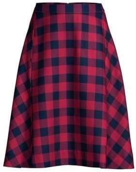 Draper James Buffalo Check Midi Skirt