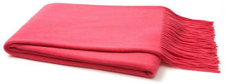One Kings Lane Solid Cashmere Throw - Pink