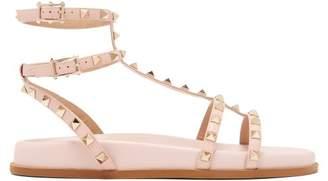 Valentino Submerge Rockstud Leather Sandals - Womens - Light Pink