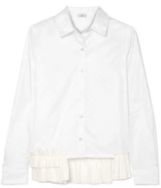 Clu Ruffle-trimmed Cotton-poplin Shirt - White