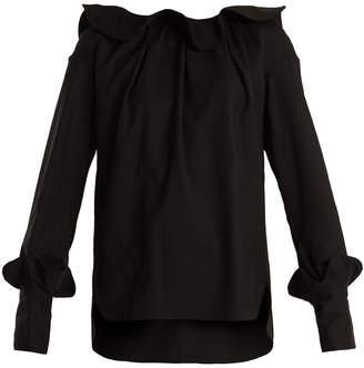 DAY Birger et Mikkelsen TEIJA Ruffle-trimmed wool blouse