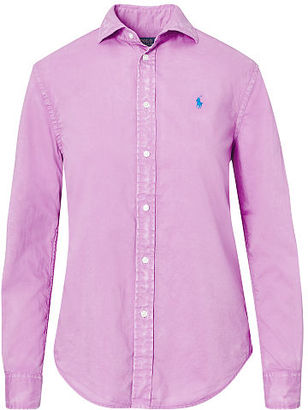Polo Ralph Lauren Relaxed Fit Cotton Shirt $98.50 thestylecure.com