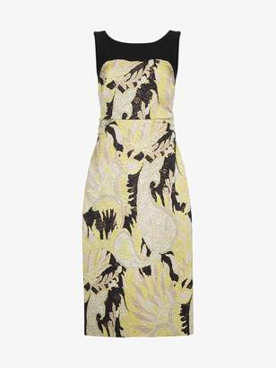 Dries Van Noten Delicia sleeveless paisley brocade dress