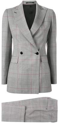 Tagliatore classic checked two-piece suit