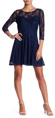 Just For Wraps Illusion Fit & Flare Mini Dress
