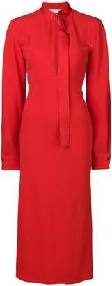 Victoria Beckham front split crepe dress