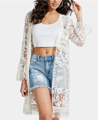 GUESS Kitra Crochet Duster Cardigan