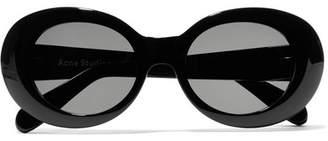 Acne Studios Mustang Round-frame Acetate Sunglasses - Black