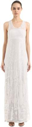 Alberta Ferretti Beaded & Sequined Long Dress