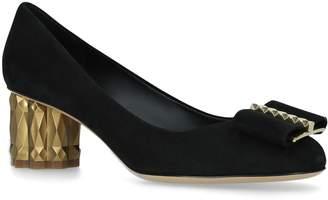 Salvatore Ferragamo Suede Capua Bow Heels