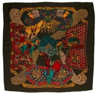 Hermes Art Des Steppes Printed Shawl