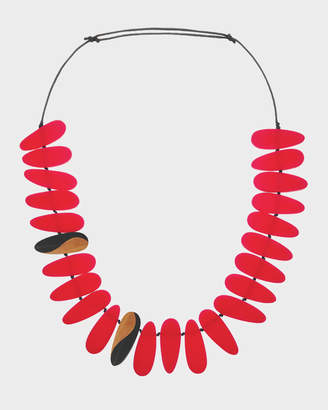 Fingers Resin Statement Adjustable Necklace