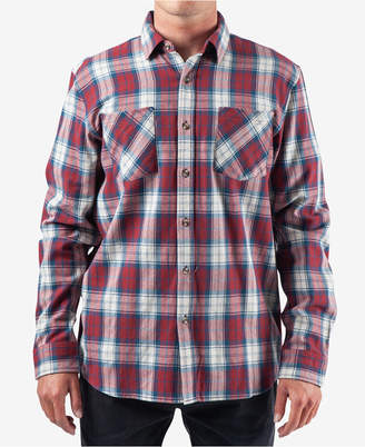 Rip Curl Men Holmes Regular-Fit Yarn-Dyed Plaid Flannel Shirt