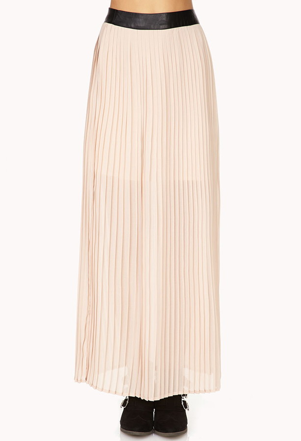 Forever 21 Chic Accordion-Pleated Maxi Skirt