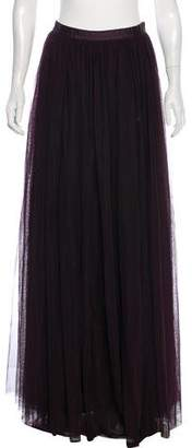 Needle & Thread Ruched Maxi Skirt