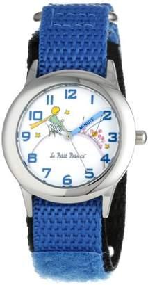 EWatchFactory Little Prince Kids' W000800 Stainless Steel Time Teacher Blue Velcro Strap Watch