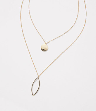 Double Layered Pave Pendant Necklace $39.50 thestylecure.com