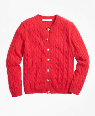 Brooks Brothers Girls Cashmere Cable Cardigan