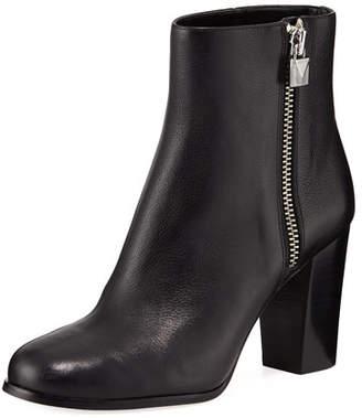 MICHAEL Michael Kors Margaret Tumbled Leather Zip Booties