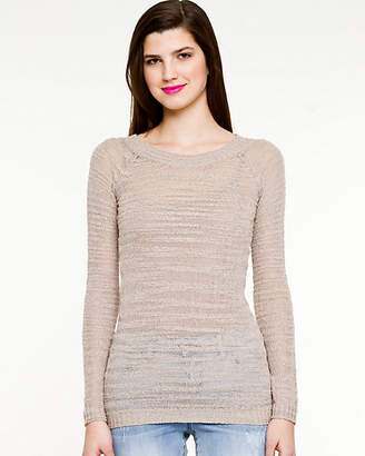 Le Château Textured Scoop Neck Sweater