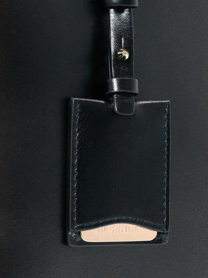 Jil Sander Neptuno leather bowling bag