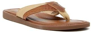 Tommy Bahama Anchors Astern Leather Flip Flop