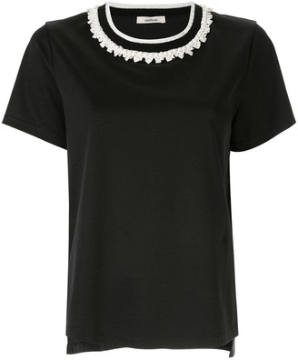 Onefifteen embellished collar T-shirt
