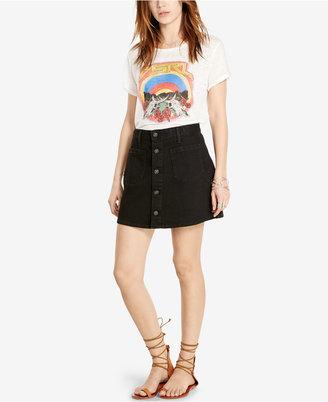 Denim & Supply Ralph Lauren Button-Front Denim Skirt $89.50 thestylecure.com