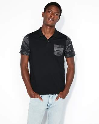 Express Camo Sleeve Jersey Polo