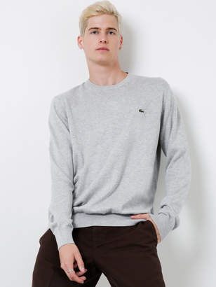 Lacoste Basic Crew Neck Sweater in Grey