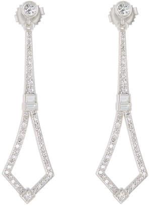 Penny Preville 18k White Gold Diamond Stiletto Drop Earrings ygZSyVx