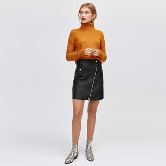 Warehouse Faux Leather Biker Skirt