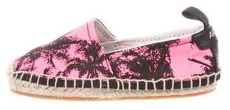 Akid Girls' Elle Palm Print Espadrilles w/ Tags